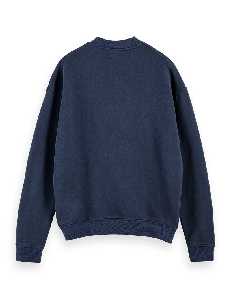High neck recycled cotton blend sweat in boxy fit (MIDNIGHT) - D.O Design Only