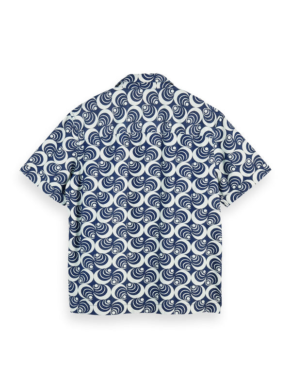 Ams Blauw short sleeve organic cotton denim island shirt (Combo A) - D.O Design Only
