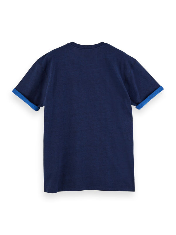 Crewneck tee with 2-tone outlook (NAVY) - D.O Design Only