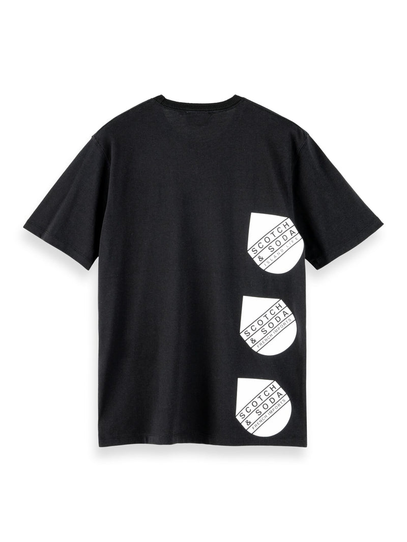 Sophisticated artwork tee with recycled materials (BLACK) - D.O Design Only