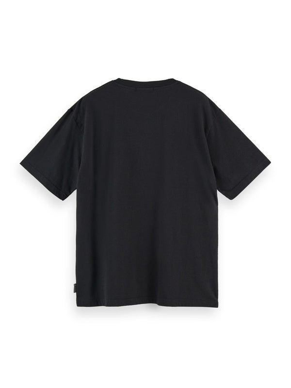 Embroidered logo artwork tee (BLACK) - D.O Design Only