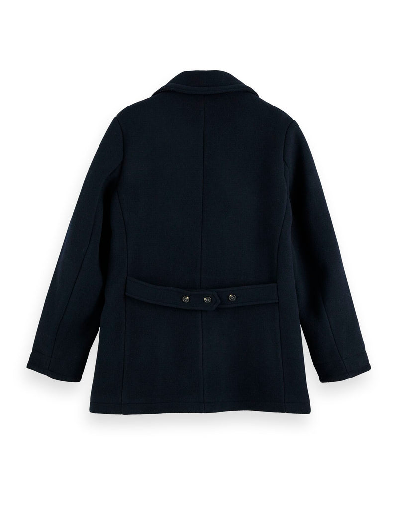 Classic wool-blend peacoat with quilted lining (Night) - D.O Design Only