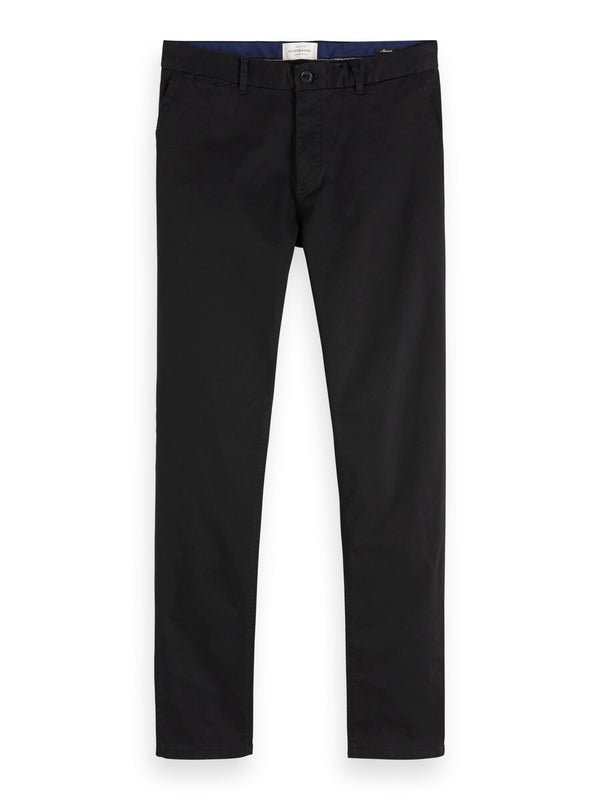 NOS Stuart - Classic regular slim fit chino (BLACK) - D.O Design Only