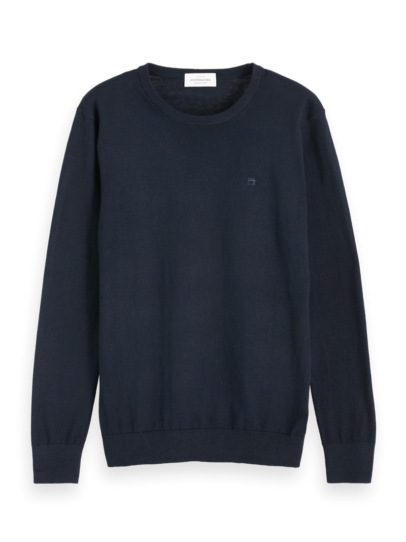 NOS Cotton cashmere crewneck knit (Night) - D.O Design Only