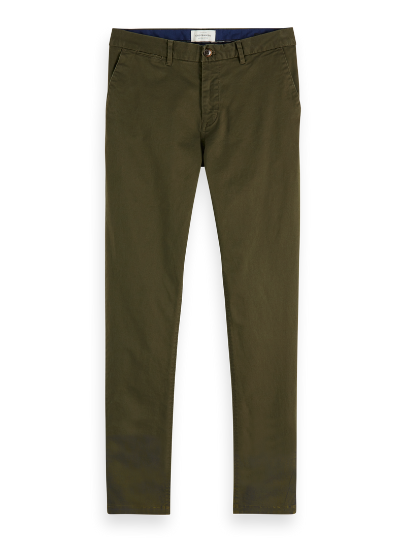 NOS Stuart - Classic regular slim fit chino (military) - D.O Design Only