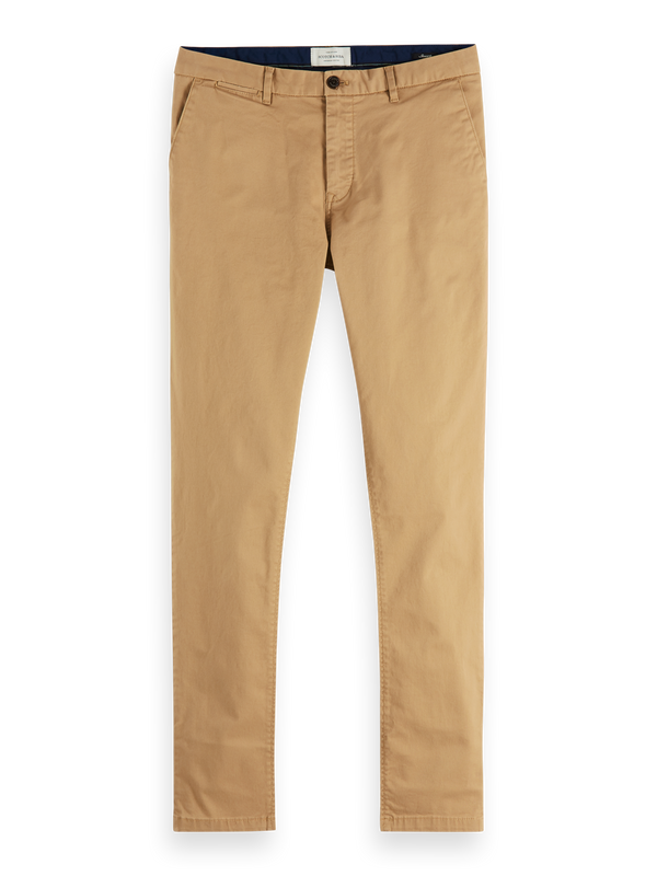 NOS Stuart - Classic regular slim fit chino (sand) - D.O Design Only