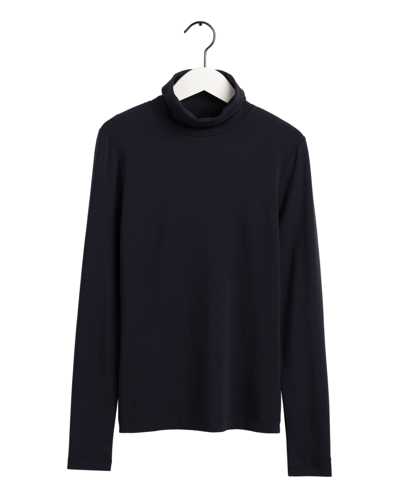 D2. TURTLENECK JERSEY LS (433 EVENING BLUE) - D.O Design Only