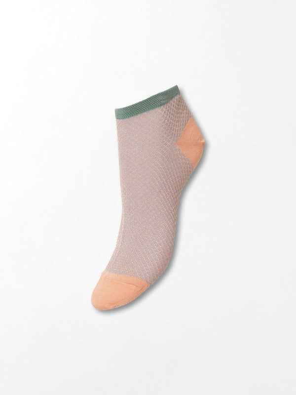 Dollie Harlequin Sock (349 Dusty Pink)