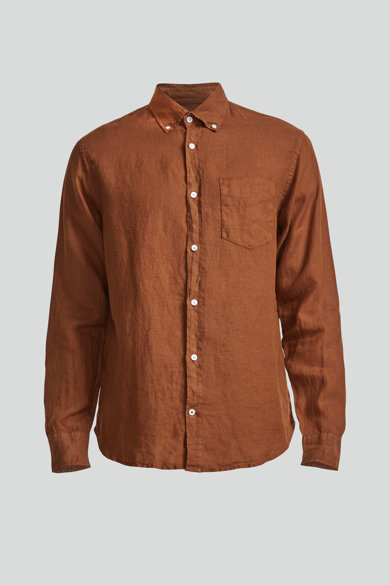 Levon Shirt 5706 (801 Canela Brown) - D.O Design Only