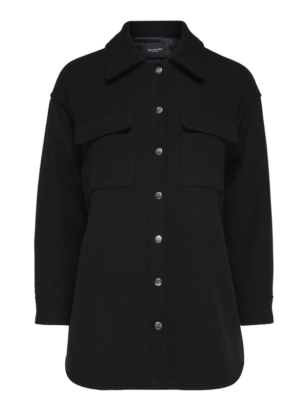 SLFTESSA WOOL SHIRT JACKET B (BLACK)