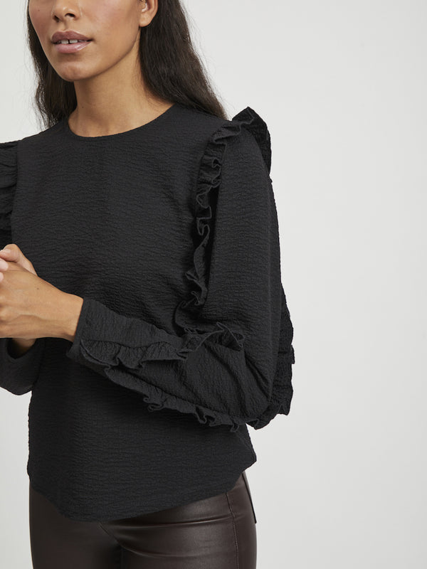 OBJEVITA L/S TOP 111 (BLACK)
