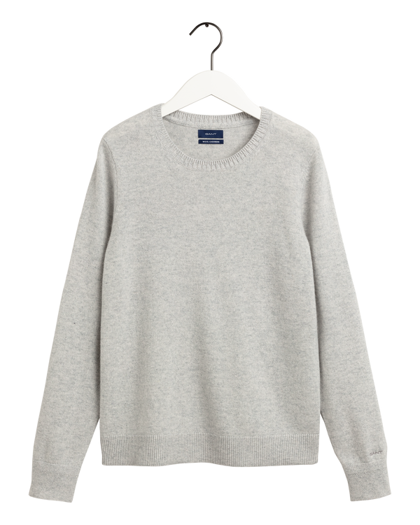 D1. CASHMERE WOOL CREW (94 LIGHT GREY MELANGE)