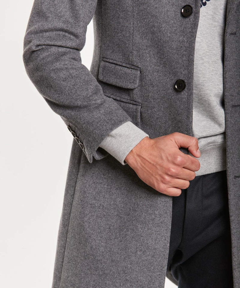 Wesley Wool Cashmere Coat (90 Grey)