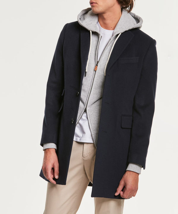 Wesley Wool Cashmere Coat (60 Navy)