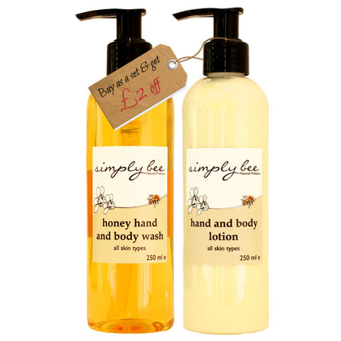 Simply Bee Hand & Body Lotion and Wash - 250ml each