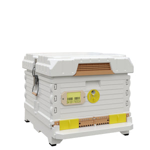 Ergo PLUS White Single Brood Box Beehive Set - Apimaye