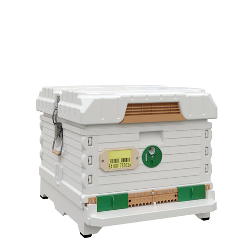 Ergo PLUS White Single Box Beehive Set with PRO Frames - Apimaye