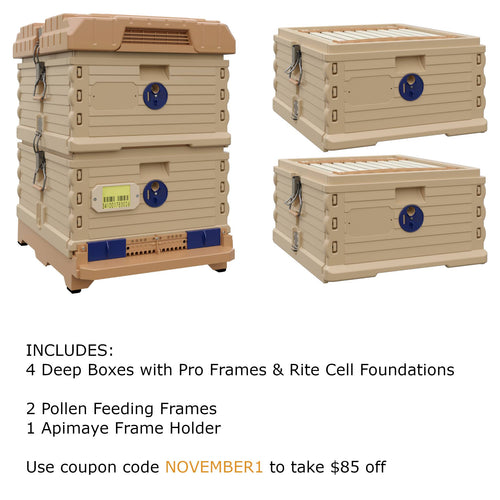 Ergo Plus Tan November Bundle with Two Deep Supers (November1) - Apimaye