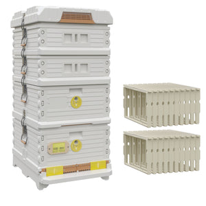 Ergo Plus White Honey & Brood Beehive Set - Apimaye
