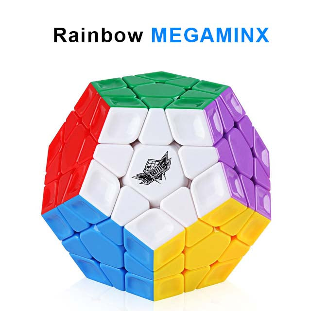 Cyclone Boys Rainbow Megaminx Speed Cube 3x3 Stickerless