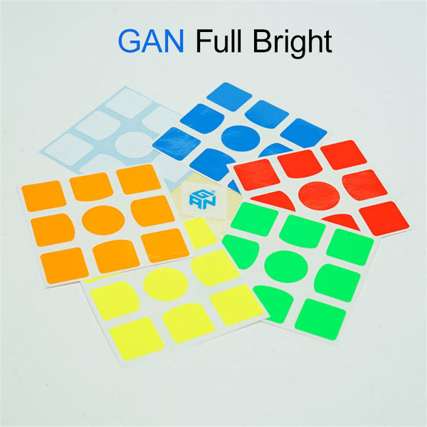 GAN Logo Stickers Replacement 3x3 Full Bright