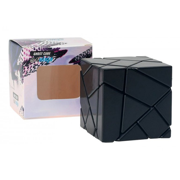 Ninja 3x3 Ghost Cube Black Silver/Gold Stickers