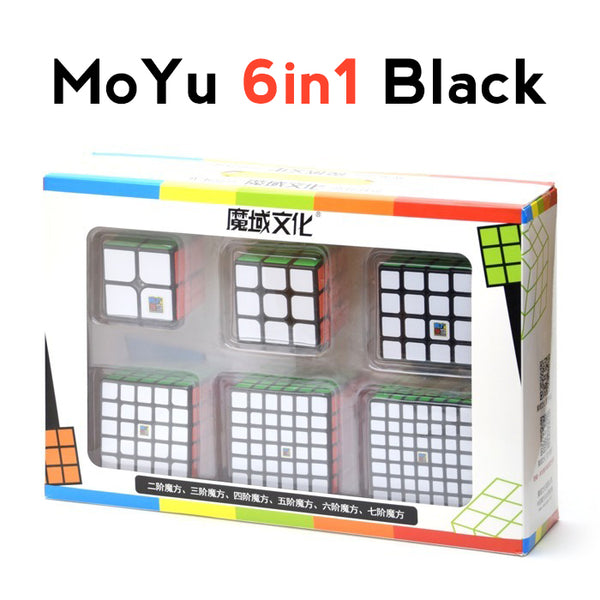 MoYu Bundle 6in1 2x2 + 3x3 + 4x4 + 5x5 + 6x6 + 7x7 AIO