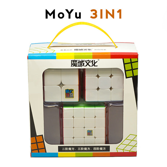 3in1 MoYu Bundle AIO 2x2 3x3 4x4