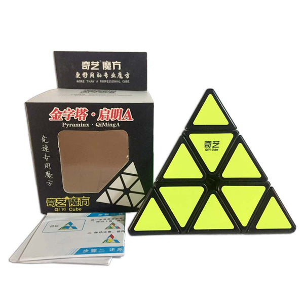 Qiyi Pyraminx 3x3 Qiming A Triangle Pyraminx Black