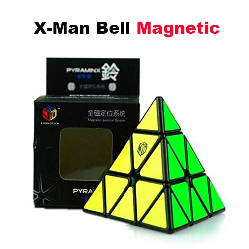 X-Man Bell Megnetic Black Pyraminx 3x3 Triangle M-Men X Man