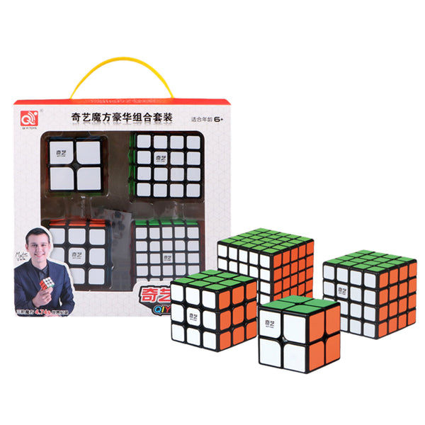 Qiyi Bundle 4in1 Black Knight 2x2 3x3 4x4 5x5