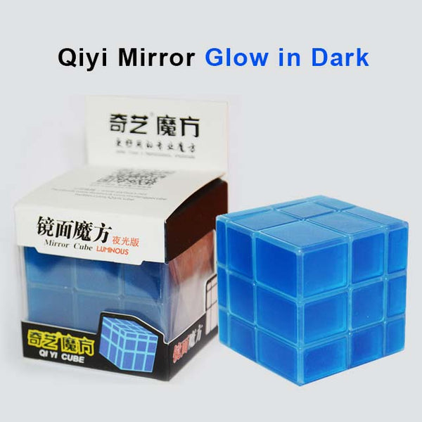Qiyi Mirror 3x3x3 Luminous Cube Glow in dark Half Transparent