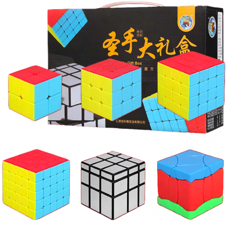 ShengShou Bundle 6in1 2X2, 3X3, 4X4, 5X5, Hundred birds PHOENIX, Mirror Gift Box