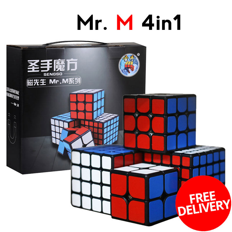 Mr M  4in1 Magnetic 2x2 3x3 4x4 5x5 ShengShou