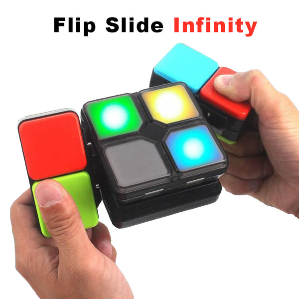 FlipSlide Game Infinity Toy Spinner cube Fidget Electronics Anti-stress Cyclone Boys