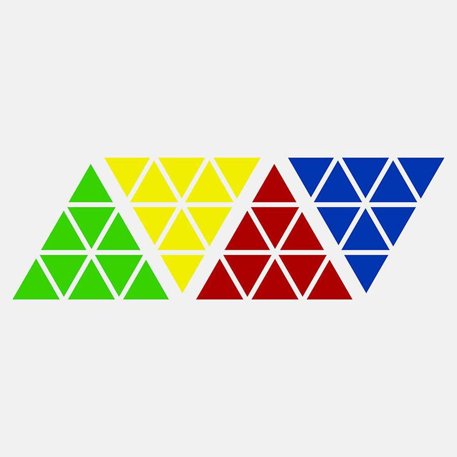 Pyraminx Stickers Replacement Half Bright