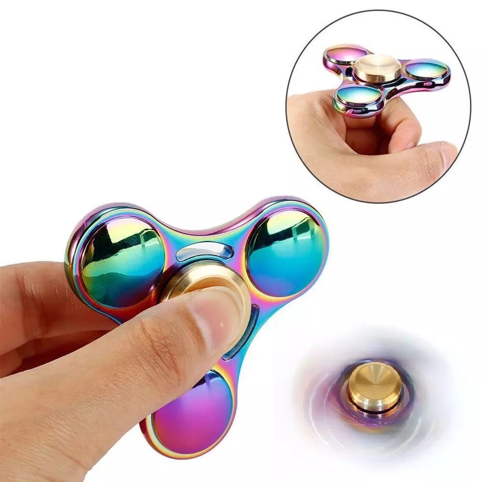 Colorful Fidget  Metal  Spinner Copper Bearing  Spinner Brass For Autism Adult Anti Relieve Stress Toy