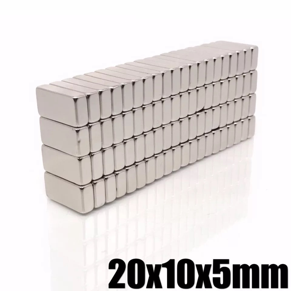 5pcs N35 Neodymium 20x10x5mm Magnets 150 degree C Filters Can Protect Ur Engine