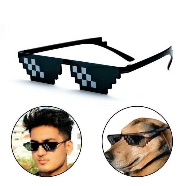 Thug Life 8 Bit Pixel Deal With IT Sunglasses