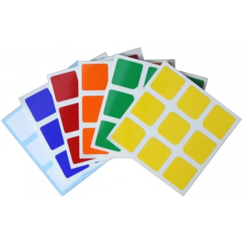 Chrome 3x3 Stickers Set Replacement