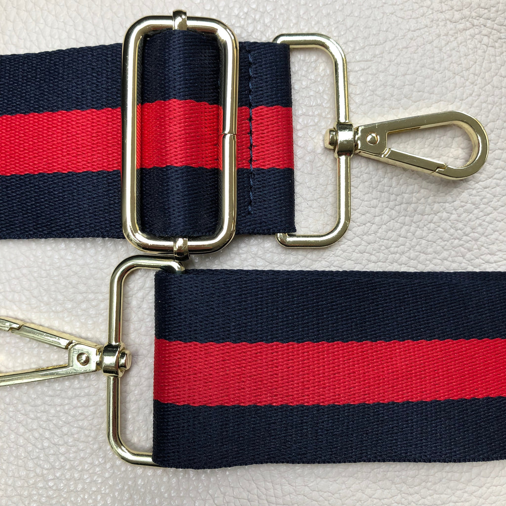WIDE NAVY/RED