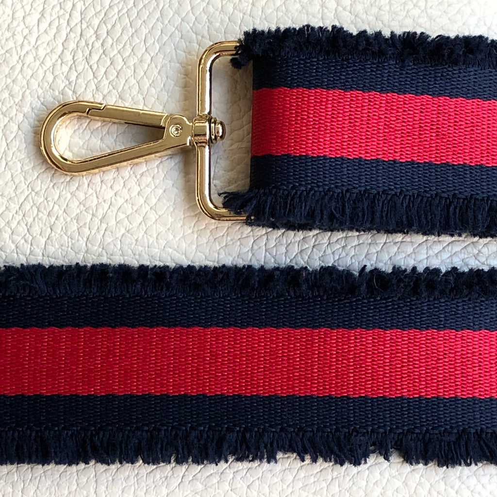 NAVY/RED RUFFLE