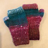 Fingerless Mitten Kit - Reds, Greens, Yellow