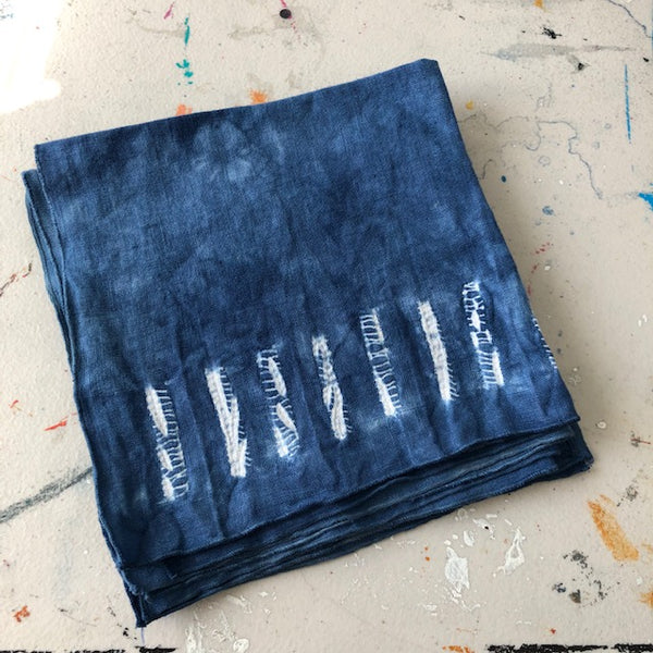 Shibori Hand Dyed Napkins - Set of 4