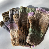 Fingerless Mitten Kit - Neutrals, Green, Lilac