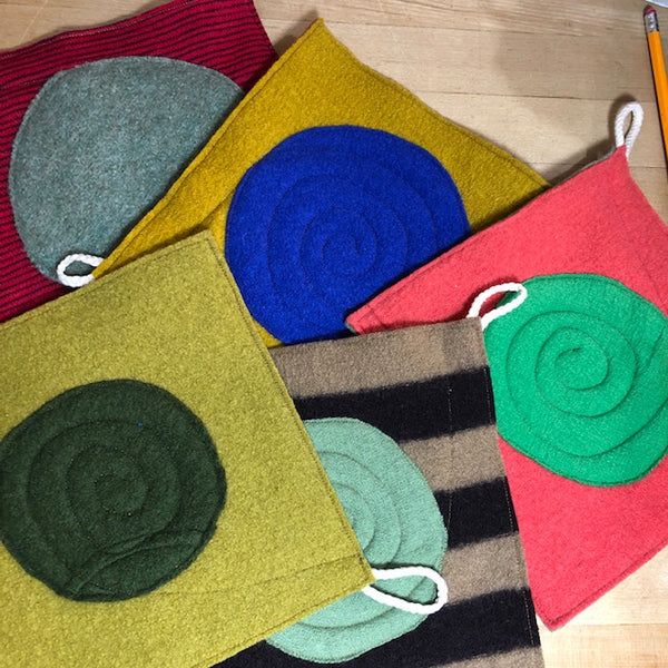 Potholder Set of 2 - Random Fun Colors