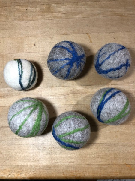 Dryer Balls - Set of Three Light Colored