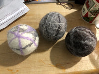 Dryer Balls - Set of Three Mixed Colors