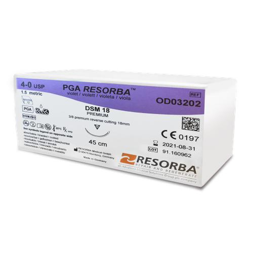 PGA Resorba™ Absorbable Multifilament Suture (OD03600)