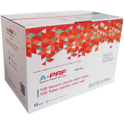 Dr. Choukroun Glass A-PRF Tubes- Box of 100 No Additives (Sterile)